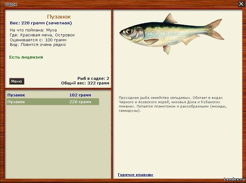 рыбалка на пузанка