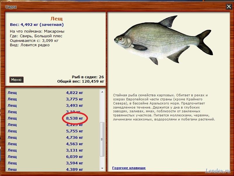 при каком давлении лучше клюет рыба лещ